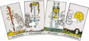 The Four Suits of the Minor Arcana: Wands, Swords, Cups, Pentacles